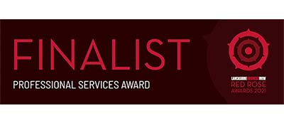 Lancashire Business View Red Rose Awards 2021 Finalist Professional Services Award